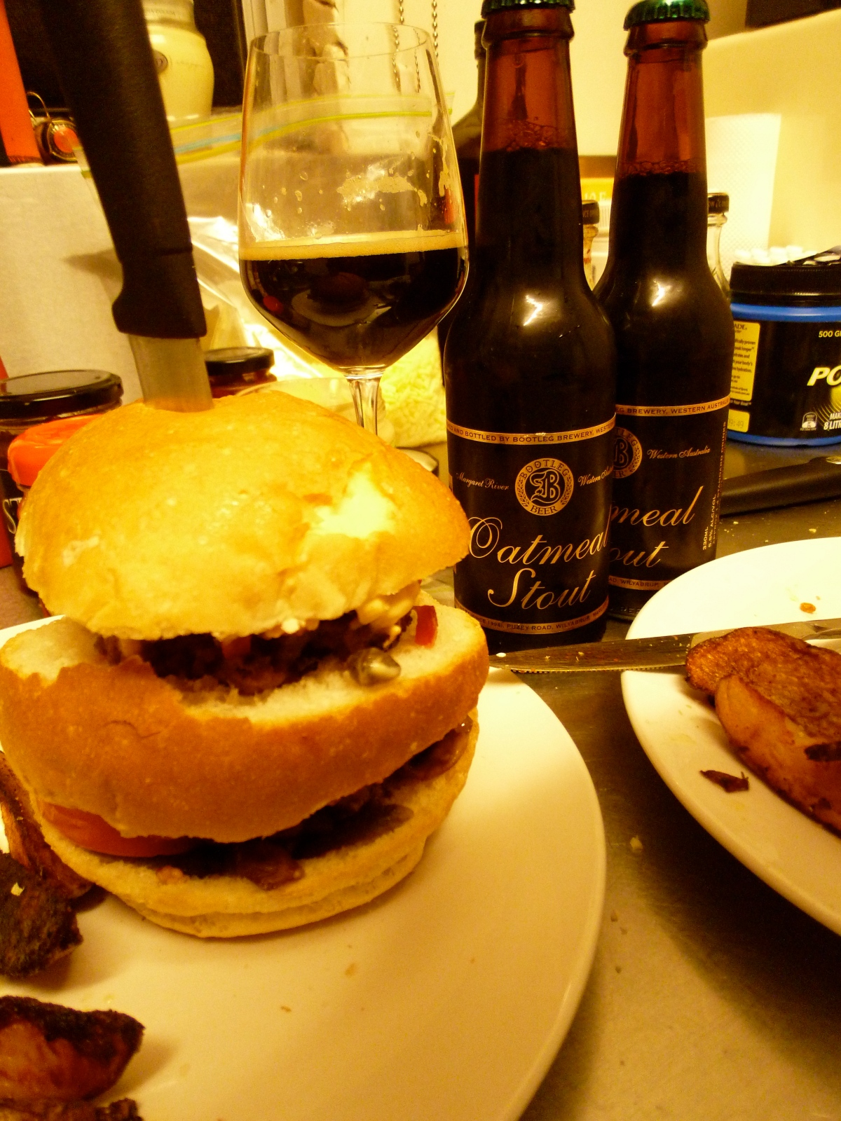 Dirty Stout Chutney Burgers
