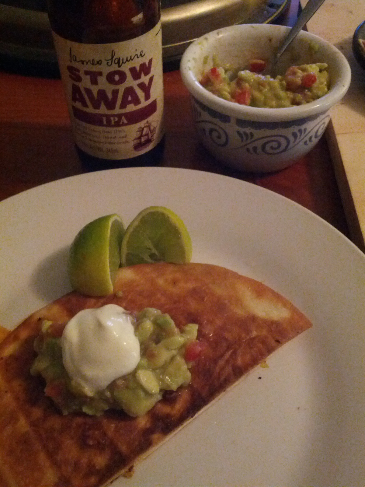 Quesadillas + IPA