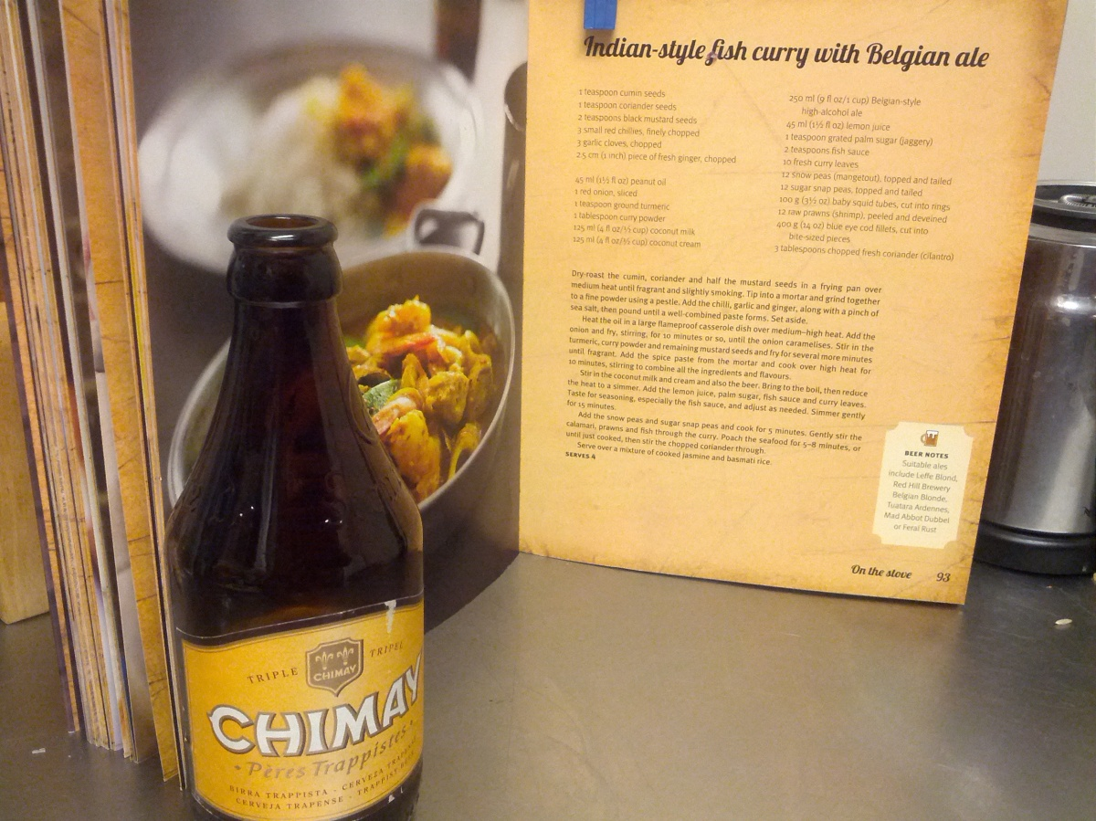 Fish Curry + Chimay