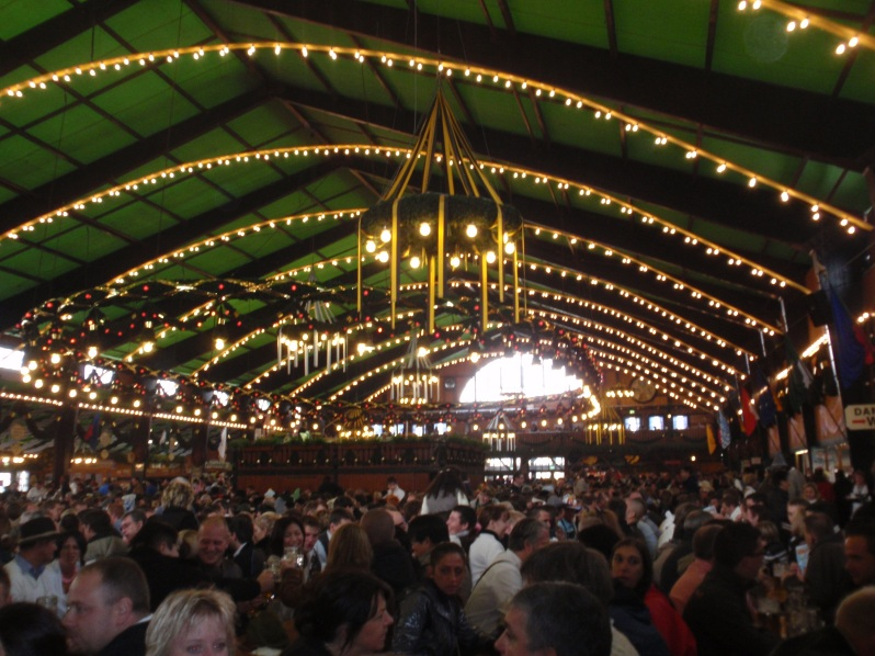 One of many great beer halls at Oktoberfest (2010)
