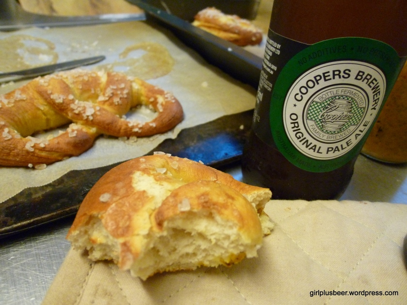 Tasty, easy pretzels with good ol' Coopers Green