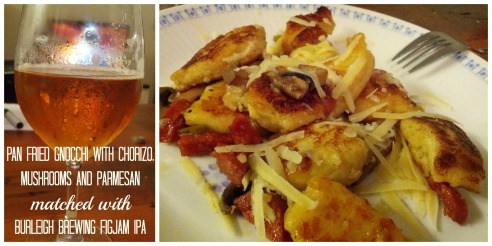 Left - Burleigh Brewing FIGJAM IPA<br />Right - Pan Fried Gnocchi