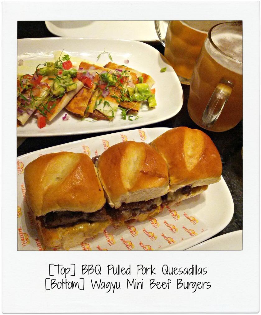 Quesadillas and Mini Beef Burgers