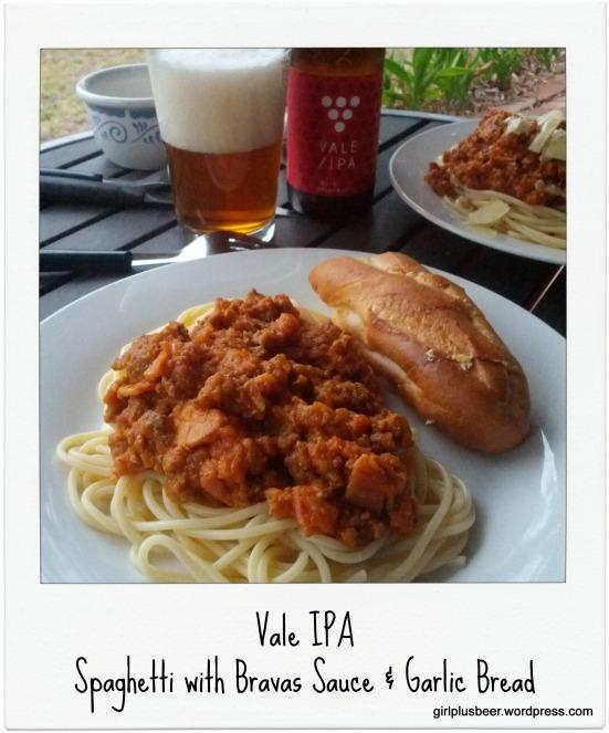 Pasta, Garlic Bread + Vale IPA-001