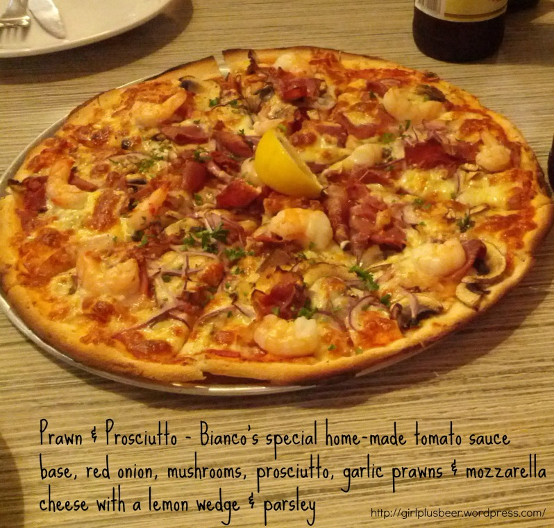 Prawn and Proscuitto Pizza