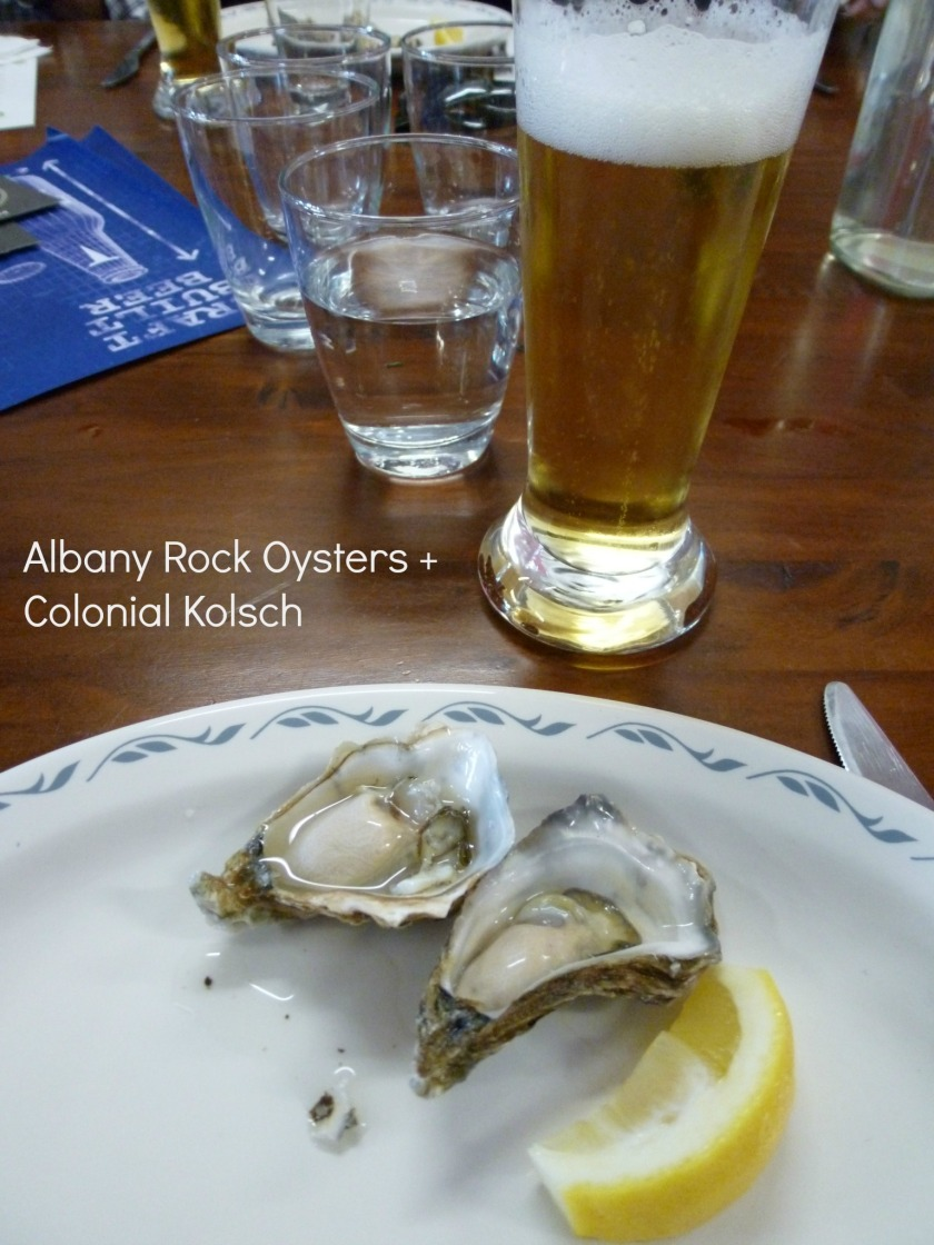 Albany Rock Oysters + Colonial Kolsch