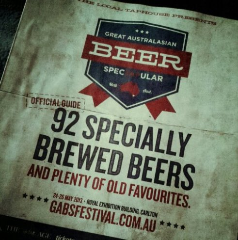 Last years GABS guide - there are even more beers this year!