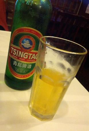 A big bottle of Tsingtao Beer
