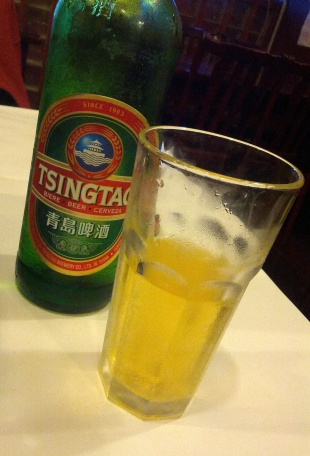 A big bottle of Tsingtao Beer