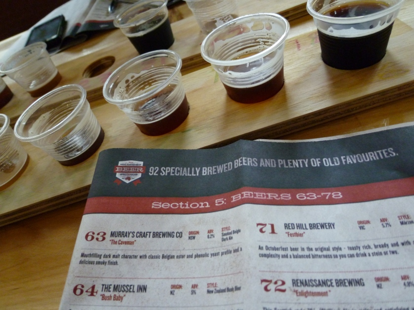 Tasting Tray and Beer List