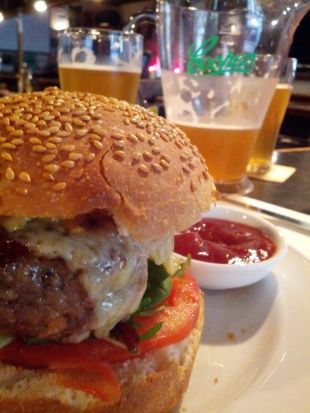 Burger and Beer at John Curtin Hotel