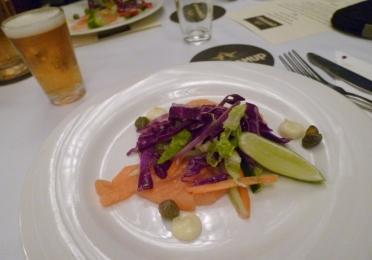 Salmon Sashimi and Cowaramup Lightsign Summer Ale