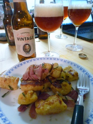 Gnocchi with Proscuitto and Coopers Vintage 2013