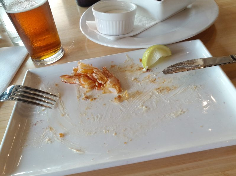 Maybe how all blog posts should end .. with a devoured meal and beer
