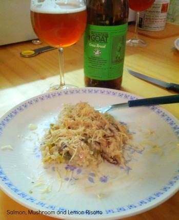 Mountain Goat Hopweizenbock and Risotto