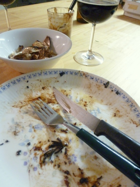 Dinner didn't last long!