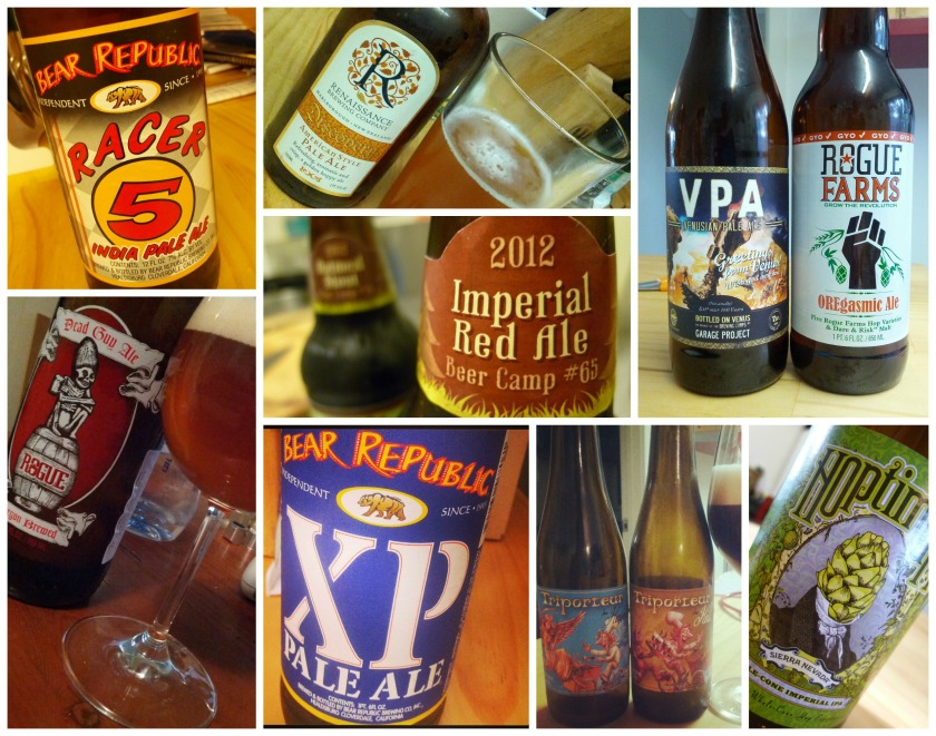 A few purchases from the surprising and growing craft beer selection