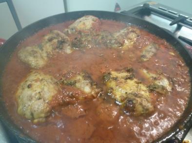 Simmering chicken goodness