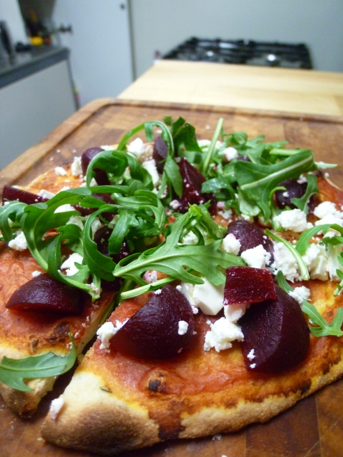 Beetroot and Feta Pizza
