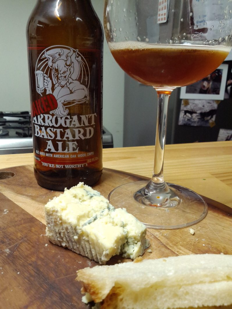 Stone's Oaked Arrogant Bastard met it's match in some stinky gorgeous blue cheese