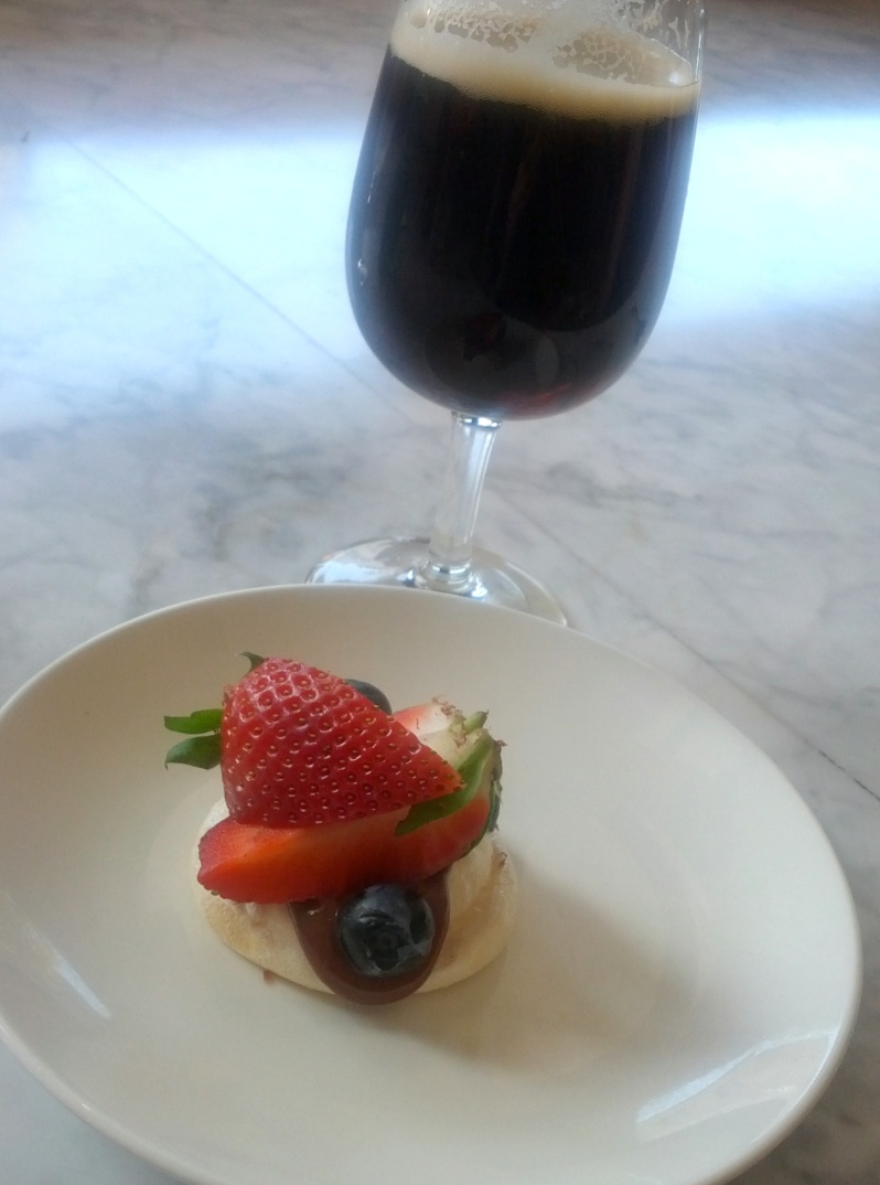 Peppermint Pavlova with Fresh Local Berries and Local Milk Chocolate by Mitch from Beersine/Five Bar