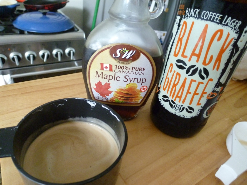 A few key ingredients - beers, coffee and maple syrup