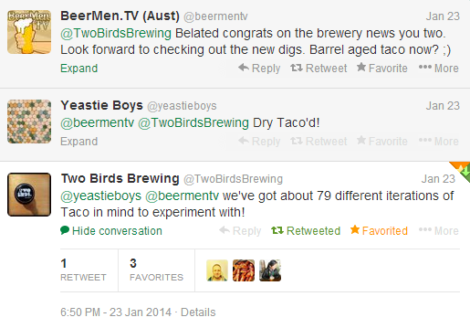 Two Birds was the word on Twitter as their new brewery news broke! Follow the ladies on Twitter - @TwoBirdsBrewing