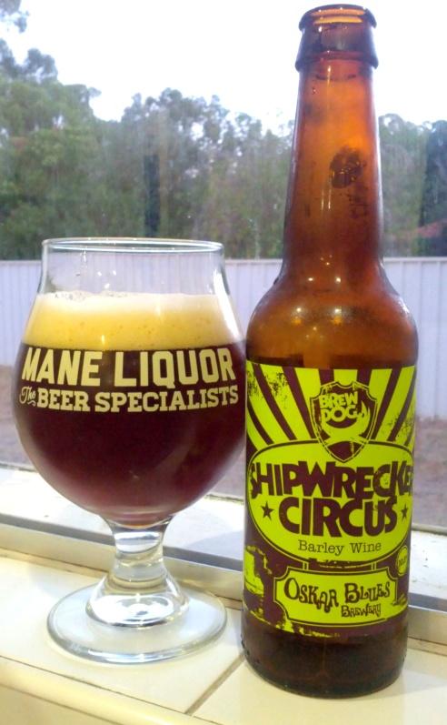 Brewdog & Oskar Blues Shipwrecker Circus Barley Wine 10.5% ABV