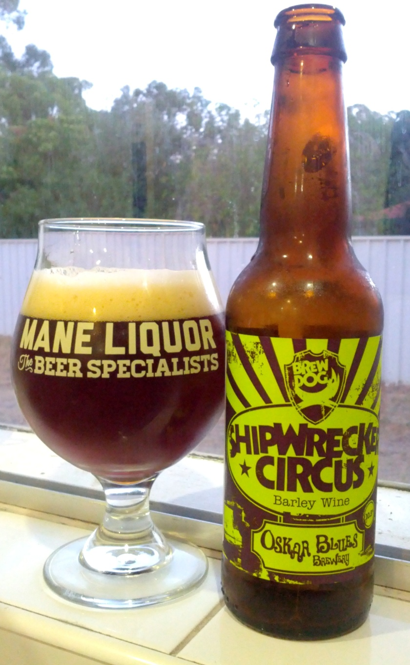 Brewdog & Oskar Blues Shipwrecker Circus Barley Wine 10.5% ABV