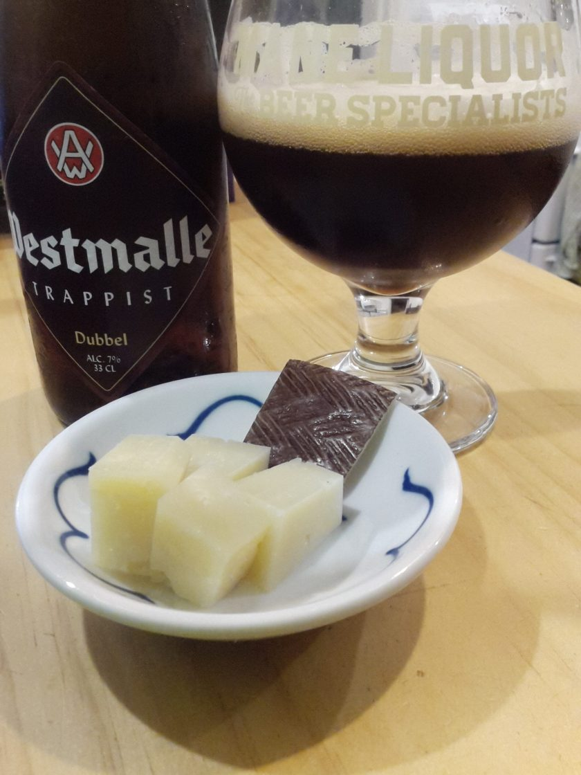 Westmalle and Manchego ... a pretty decent night in
