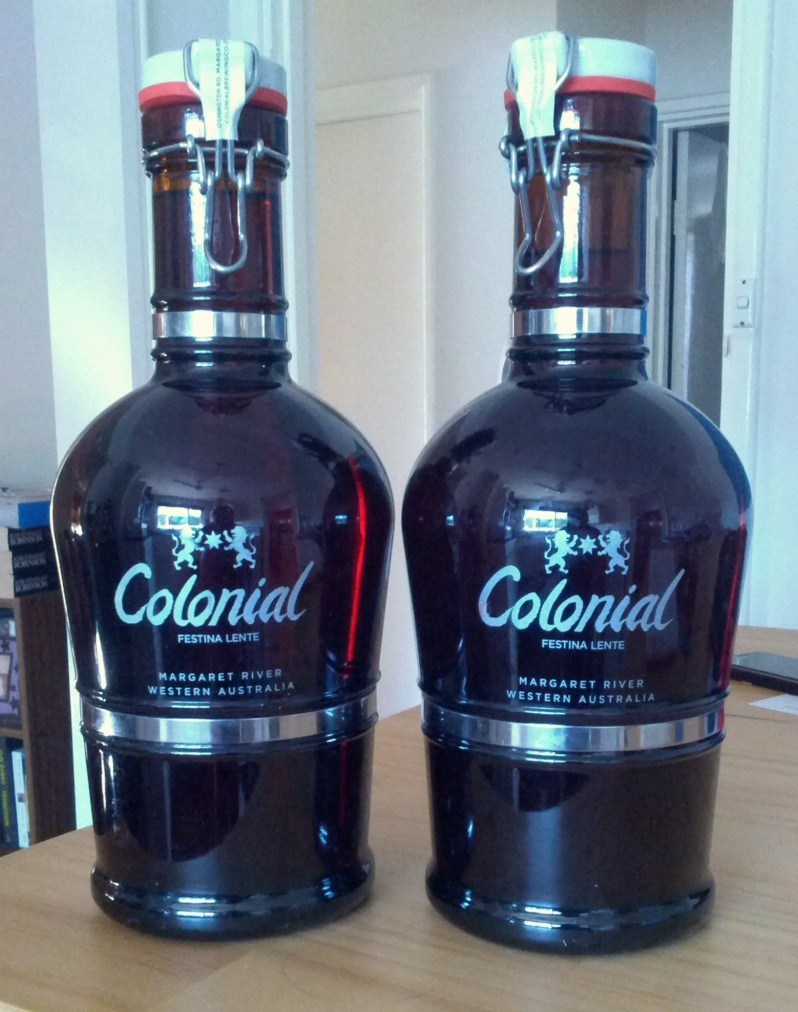 Colonial Growlers, a gift from Paul Wyman cause he's a good good man. Thanks Paul!