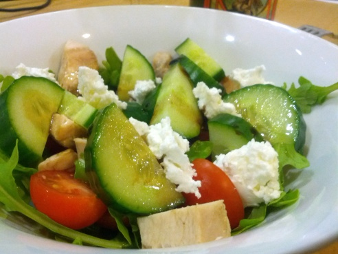 Chicken Salad with Goat's Cheese