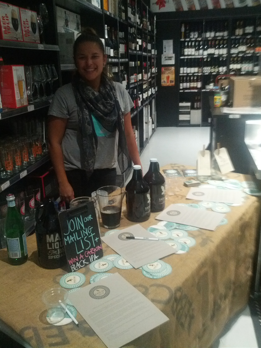 Retail and Marketing Manager for Eagle Bay, Margi rockin' the tasting table