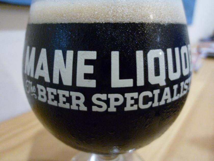Eagle Bay Black IPA in my beloved Mane Liquor glass