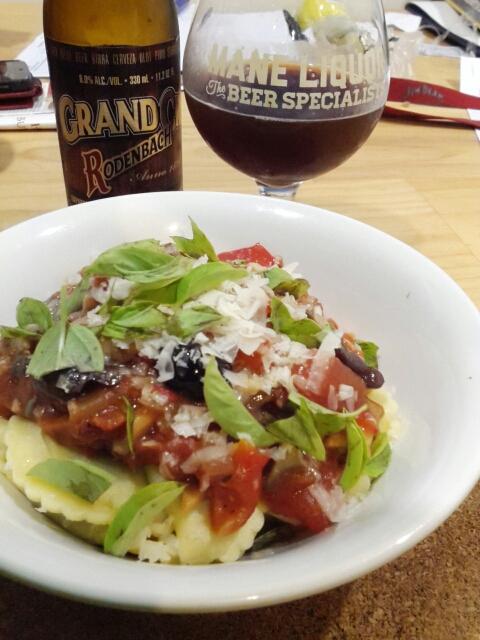 Pasta and Rodenbach Grand Cru