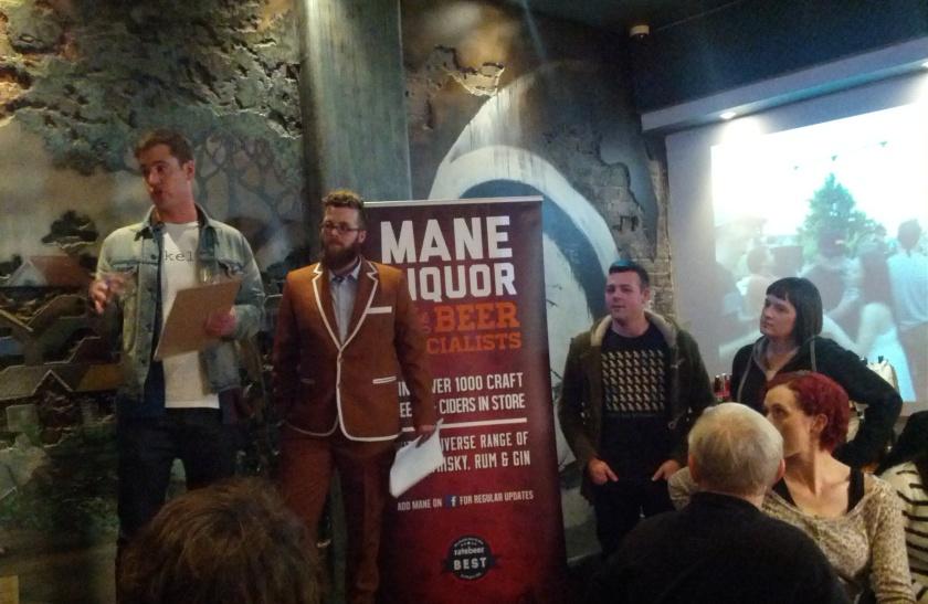 L-R: Elliot (Mane), Josh (Precinct), Josh (Mane) and Roxy (Bridge Road Brewery)