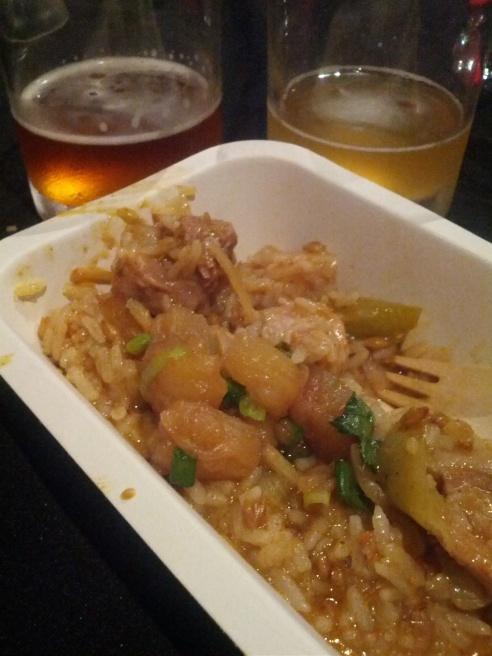 food by beersine: braised pork, pineapple and spicy rice