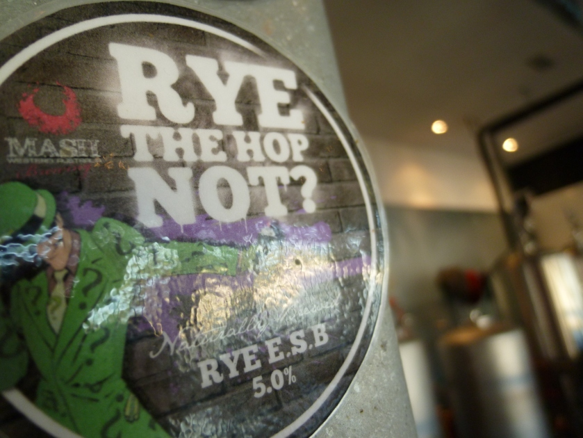Rye the Hop Not - English ESB which was delicious but sadly no longer brewed