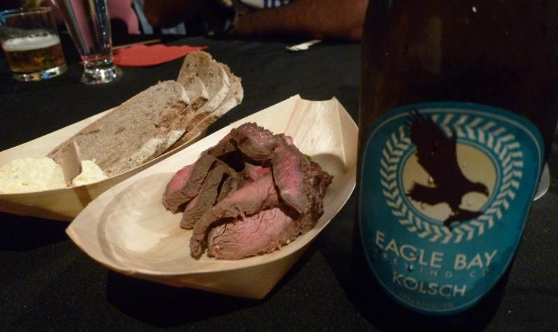 food by beersine: beef, rye bread and horseradish cream