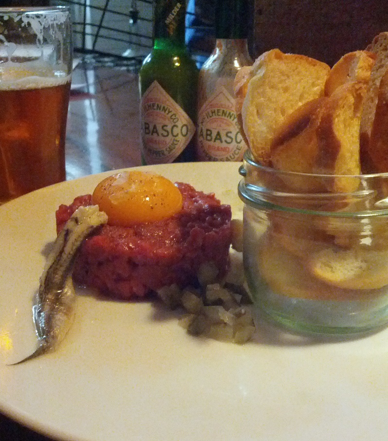 Steak Tartare at Five Bar