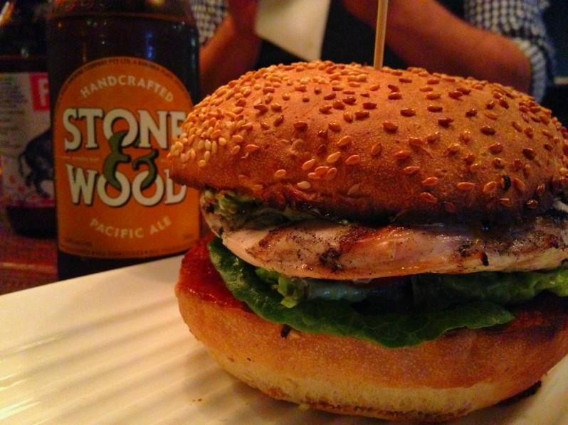 Chicken burger at Grill'd