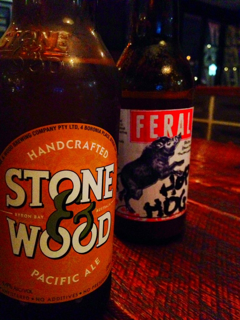 Feral Hop Hog and Stone & Wood Pacific Ale at Grill'd Murray Street, Perth