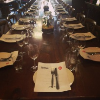 Table setting for Beer & Food Masterclass