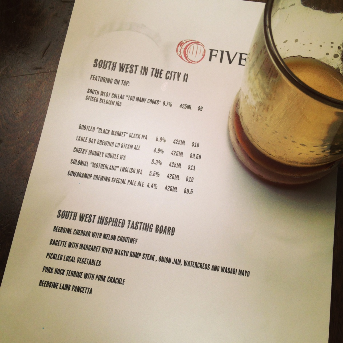 WA Beer Week: South West in the CityII