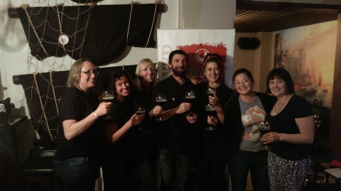 L-R: Sam & Chloe (Young Henry's Brewing), Kris (Pink Boots/CBIA), Charlie (Mash), Agi (Beer Creative), Me and Roxy (Pink Boots/Five Bar)