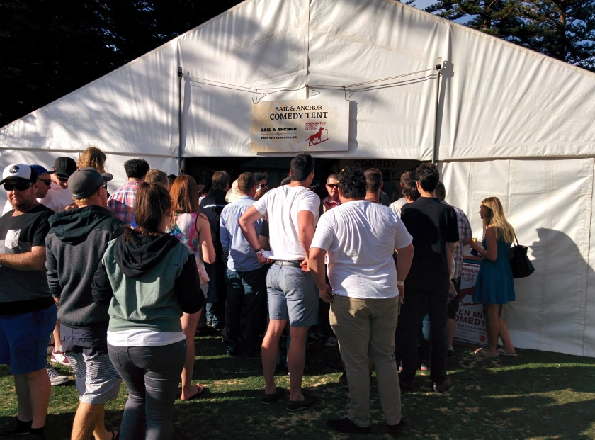The Sail & Anchor Comedy Tent at Fremantle Beer Fest 2014