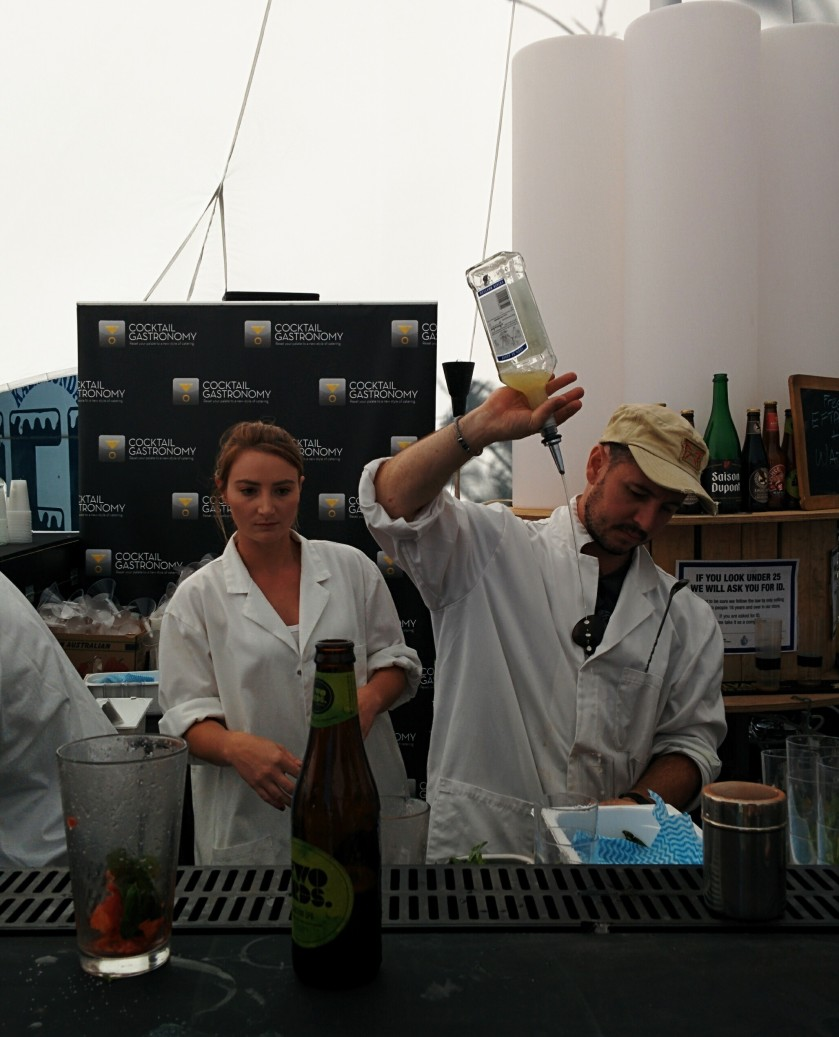 Andrew Bennett of The Cocktail Lab at Fremantle Beer Fest 2014