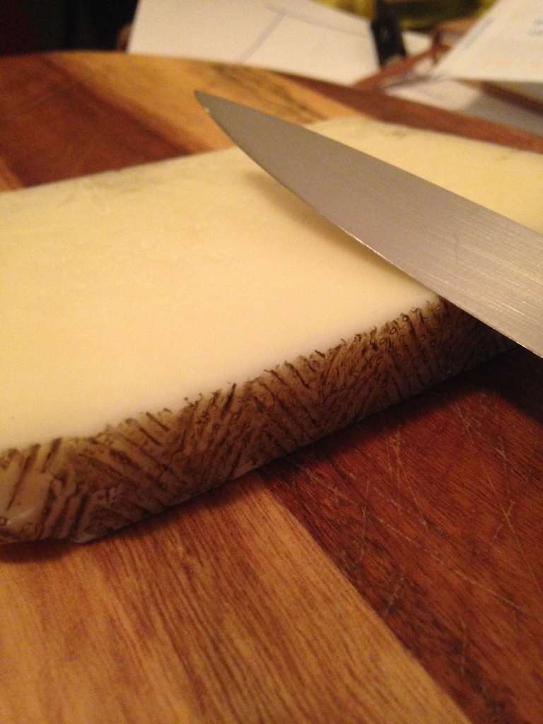 Manchego - nutty, grassy, fruity and a little oily.