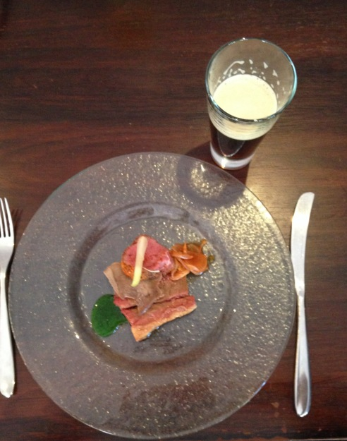 Blackwood Valley Beef Sirloin, Brisket & Tongue with Fermented Spring Garlic, Daikon Radish Kimchee by Mitch of Beersine