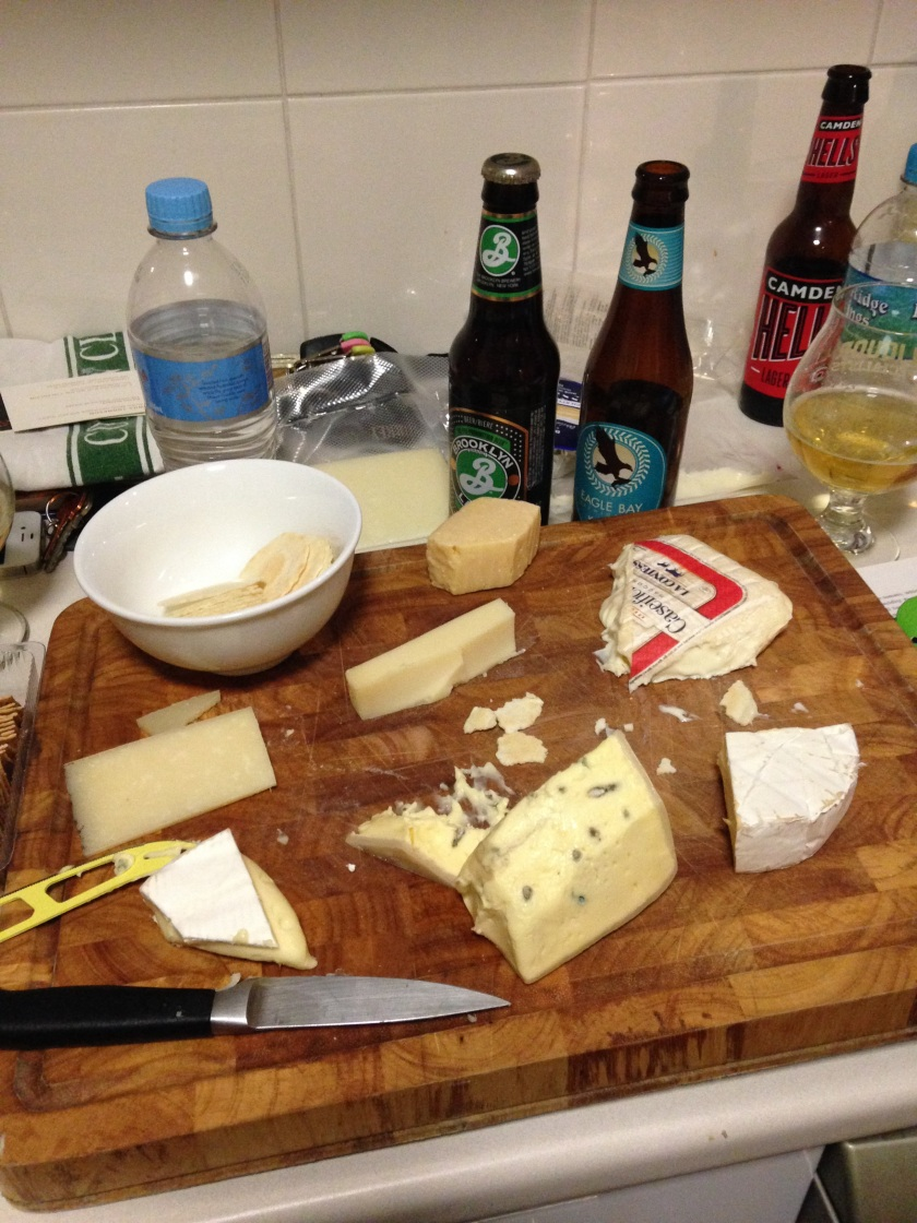 Researching beer and cheese with Margi